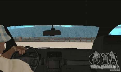 Volkswagen Touareg 2008 für GTA San Andreas Innenansicht