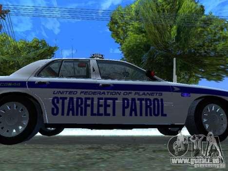 Ford Crown Victoria Police Interceptor 2008 pour GTA San Andreas vue intérieure