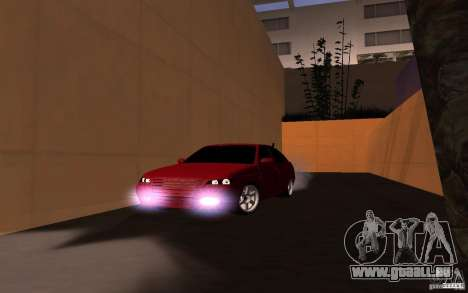 LADA PRIORA van tuning pour GTA San Andreas sur la vue arrière gauche