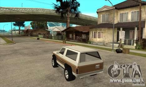 Ford Ranger pour GTA San Andreas sur la vue arrière gauche