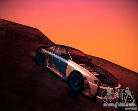 Nissan Silvia S14 NonGrata für GTA San Andreas zurück linke Ansicht