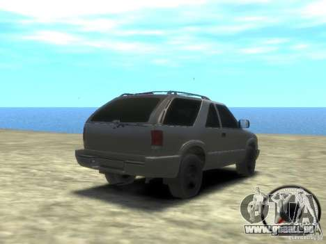 Chevrolet Blazer LS 2dr 4x4 pour GTA 4 est un droit