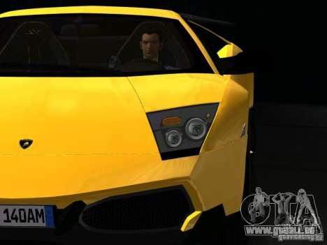 Lamborghini Murcielago LP670-4 sv für GTA San Andreas obere Ansicht
