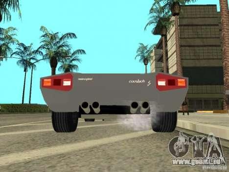 Lamborghini Countach LP400 pour GTA San Andreas vue arrière