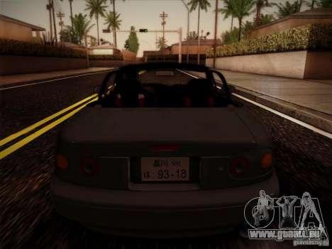 Mazda MX5 JDM pour GTA San Andreas vue arrière