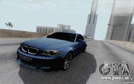 BMW 1M 2011 V3 pour GTA San Andreas vue de droite