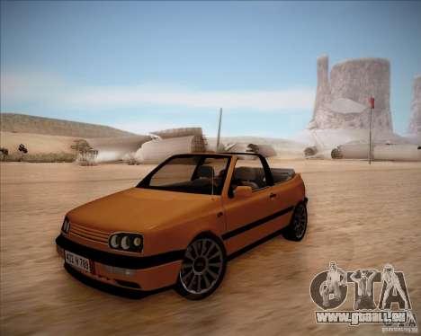 Volkswagen Golf MkIII Cabrio Custom 1995 pour GTA San Andreas