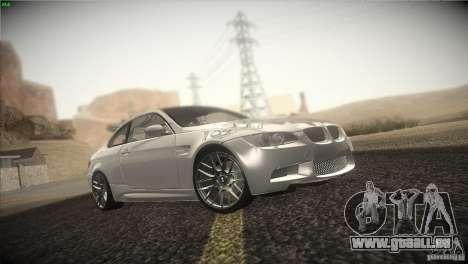 BMW M3 E92 für GTA San Andreas Innenansicht