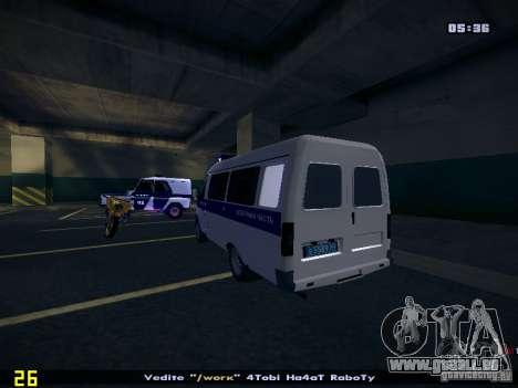 Gazelle 2705 Polizei für GTA San Andreas linke Ansicht