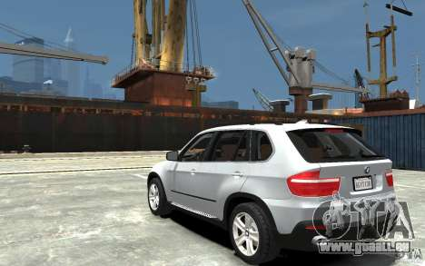 BMW X5 2009 pour GTA 4 Vue arrière de la gauche