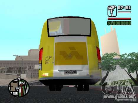 Busscar Vissta Bus für GTA San Andreas zurück linke Ansicht