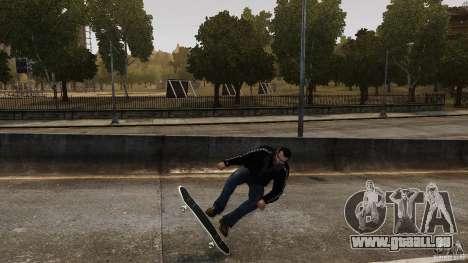 Skateboard # 4 pour GTA 4 est une vue de l'intérieur