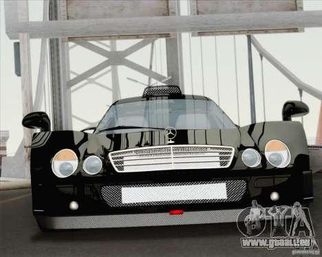Mercedes-Benz CLK GTR Race Road Version Stock für GTA San Andreas Innenansicht