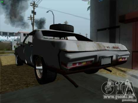 BETOASS car pour GTA San Andreas sur la vue arrière gauche