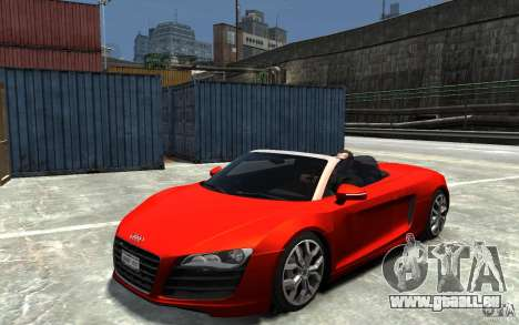 Audi R8 Spyder 5.2 FSI Quattro V4 [EPM] pour GTA 4 est un droit