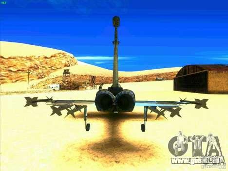 F-5E Tiger pour GTA San Andreas sur la vue arrière gauche