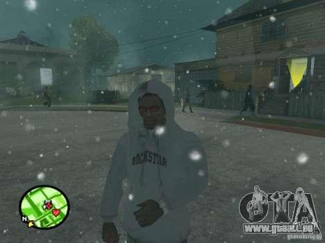 Chute de neige pour GTA San Andreas quatrième écran
