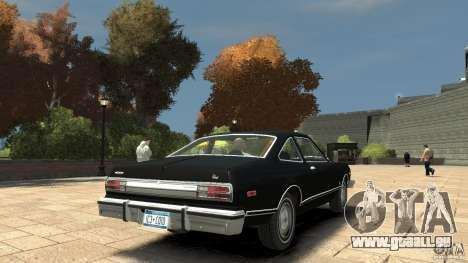 Plymouth Volare Coupe 1977 pour GTA 4 est un droit