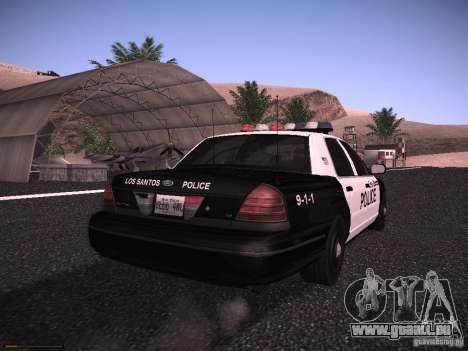 Ford Crown Victoria Police 2003 pour GTA San Andreas vue de droite