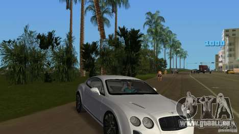 Bentley Continental Supersport für GTA Vice City Rückansicht