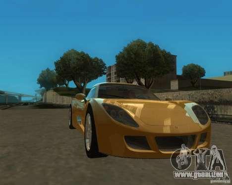 Ginetta F400 pour GTA San Andreas sur la vue arrière gauche
