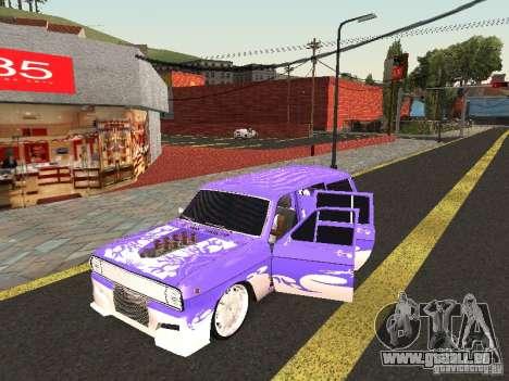 Lowrider GAZ 24-12 pour GTA San Andreas laissé vue