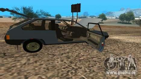 VAZ 2108 pour GTA San Andreas vue de dessous