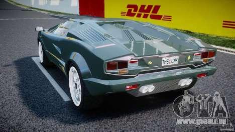 Lamborghini Countach v1.1 pour GTA 4 Vue arrière de la gauche