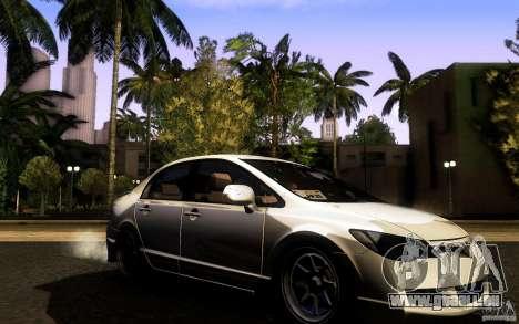 Honda Civic FD BlueKun pour GTA San Andreas vue de droite