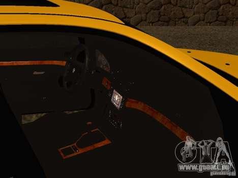 BMW 540i pour GTA San Andreas vue intérieure