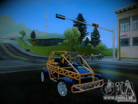 Buggy From Crash Rime 2 für GTA San Andreas Innenansicht