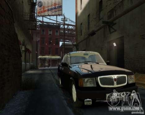 Volga gaz 3110 pour GTA 4 est une vue de dessous