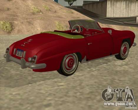 Mercedes Benz 190SL 1960 pour GTA San Andreas laissé vue