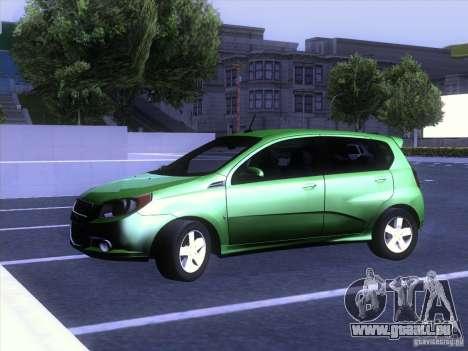 Chevrolet Aveo LT pour GTA San Andreas vue de droite