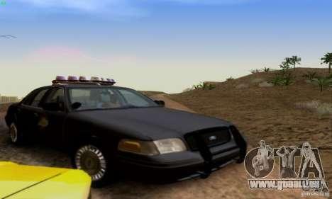 Ford Crown Victoria Kentucky Police für GTA San Andreas Rückansicht