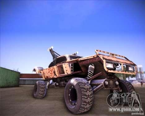 Post Apocalyptic Mayhem sandking pour GTA San Andreas sur la vue arrière gauche