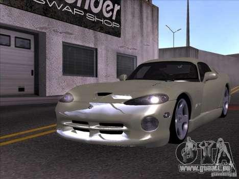 Dodge Viper pour GTA San Andreas vue intérieure