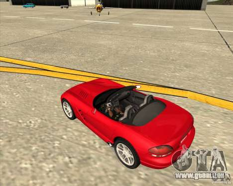 Dodge Viper SRT-10 Roadster pour GTA San Andreas vue de côté