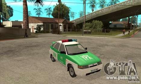 VAZ-2112 YPX Polizei für GTA San Andreas Rückansicht