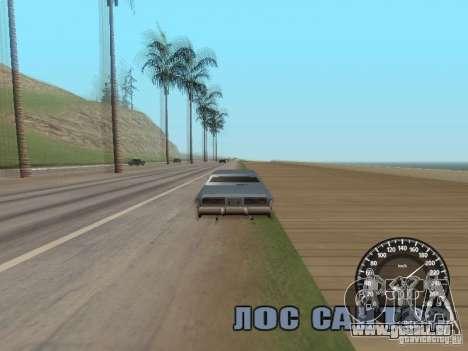 Compteur de vitesse Audi pour GTA San Andreas troisième écran