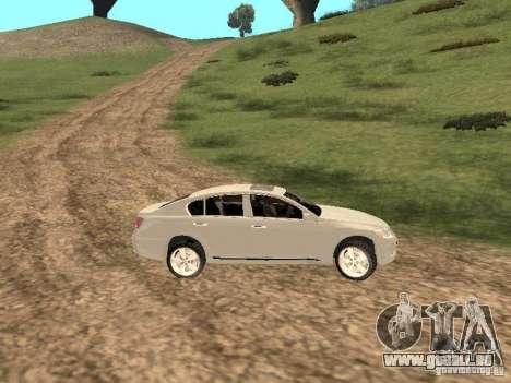 Lexus GS-350 für GTA San Andreas Innenansicht