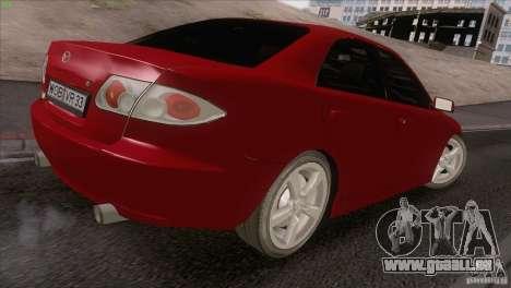 Mazda 6 2006 pour GTA San Andreas vue intérieure