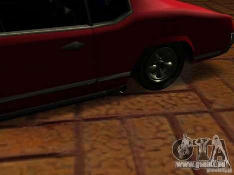Charger Sabre pour GTA San Andreas vue arrière