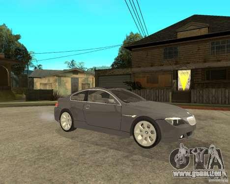 BMW 645Ci 04 für GTA San Andreas rechten Ansicht