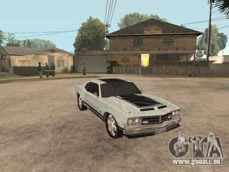 SabreGT de GTA 4 pour GTA San Andreas laissé vue