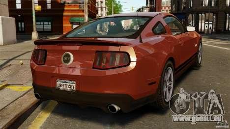 Ford Mustang GT 2011 für GTA 4 hinten links Ansicht
