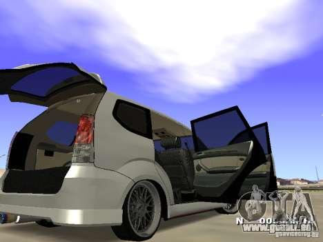 Toyota Avanza Street Edition pour GTA San Andreas vue de droite