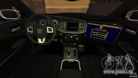 Dodge Charger RT Max Police 2011 [ELS] pour GTA 4 Vue arrière