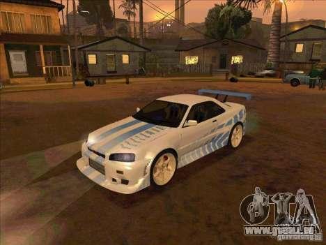Nissan Skyline GT-R R34 2 Fast 2 Furious pour GTA San Andreas