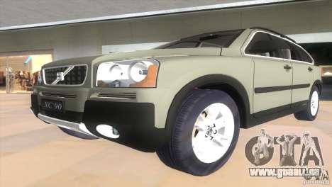Volvo XC90 für GTA Vice City Rückansicht